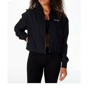 NWT nike mesh XL cropped bomber jacket